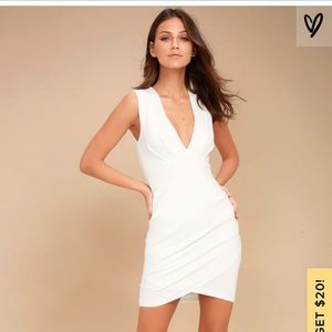 COCKTAIL HOUR IVORY WRAP DRESS